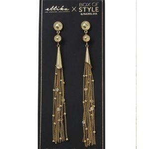 Ettika Chain Drop Tassel Earrings